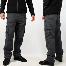 "Pantalon Indian Project \""Kontaktt\\\"", Gris"