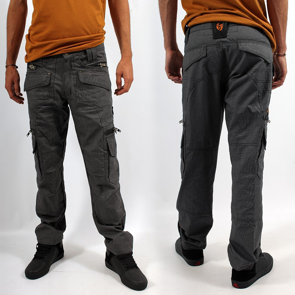 "Pantalon Indian Project \""Kontaktt\\\"", Pixel Gris"
