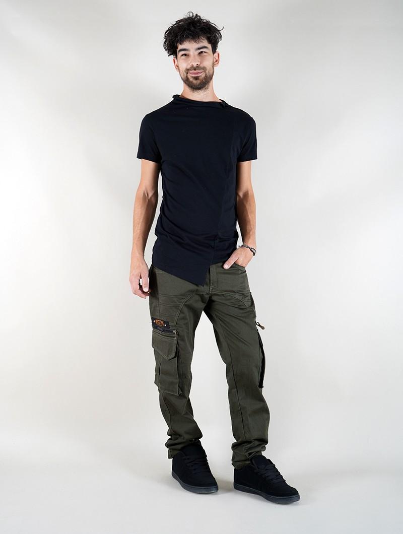 "Pantalon Indian Project \""Wake\"", Vert kaki foncé"