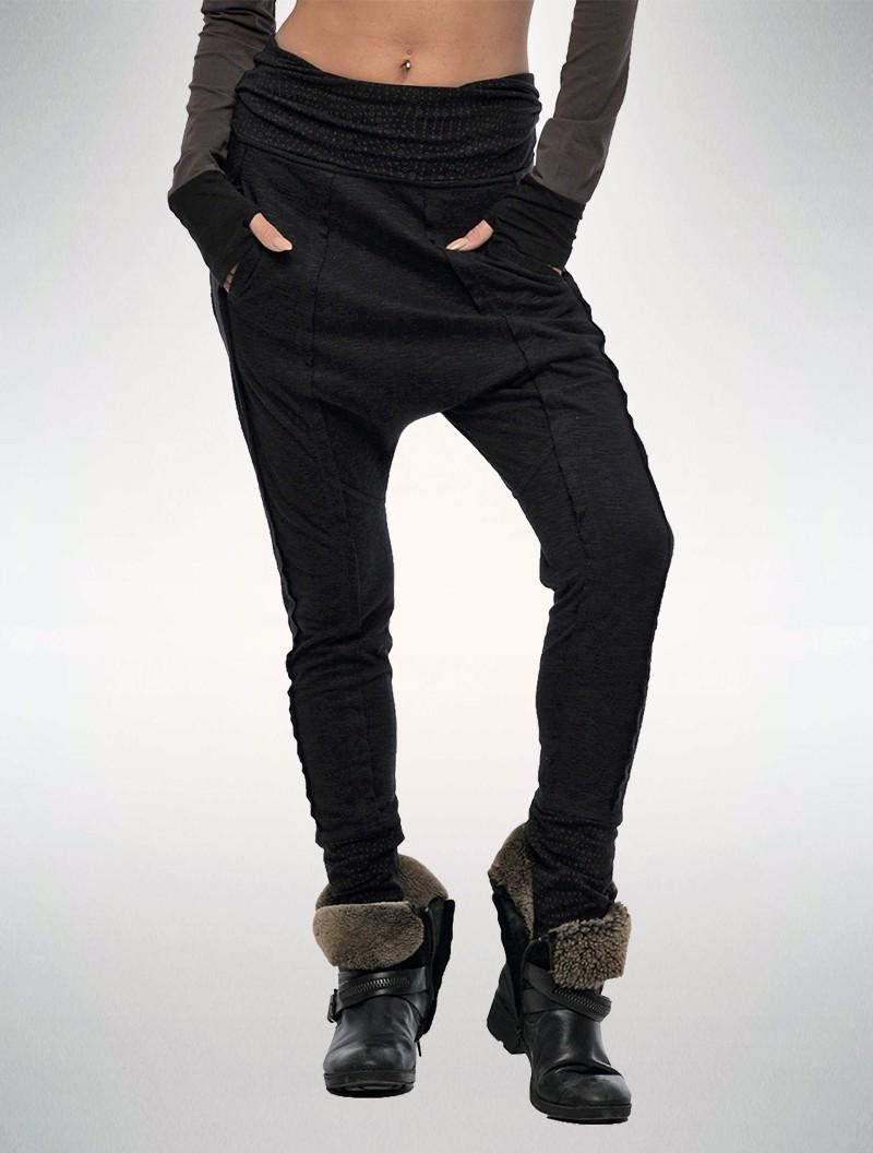 "Pantalon jogging \""Onicha\"", Noir"