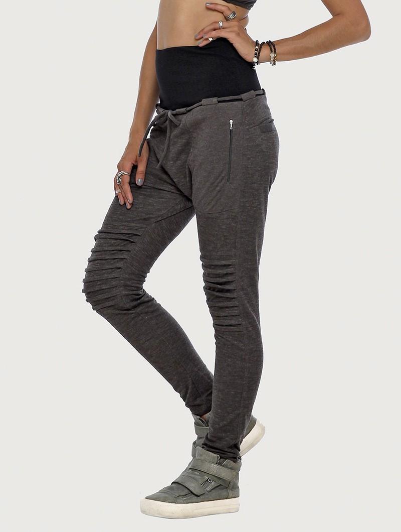 """Pantalon jogging \""""Yugo\"""", Gris foncé chiné"""