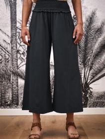 """Pantalon large évasé \""""Bhavani\"""", Gris anthracite"""