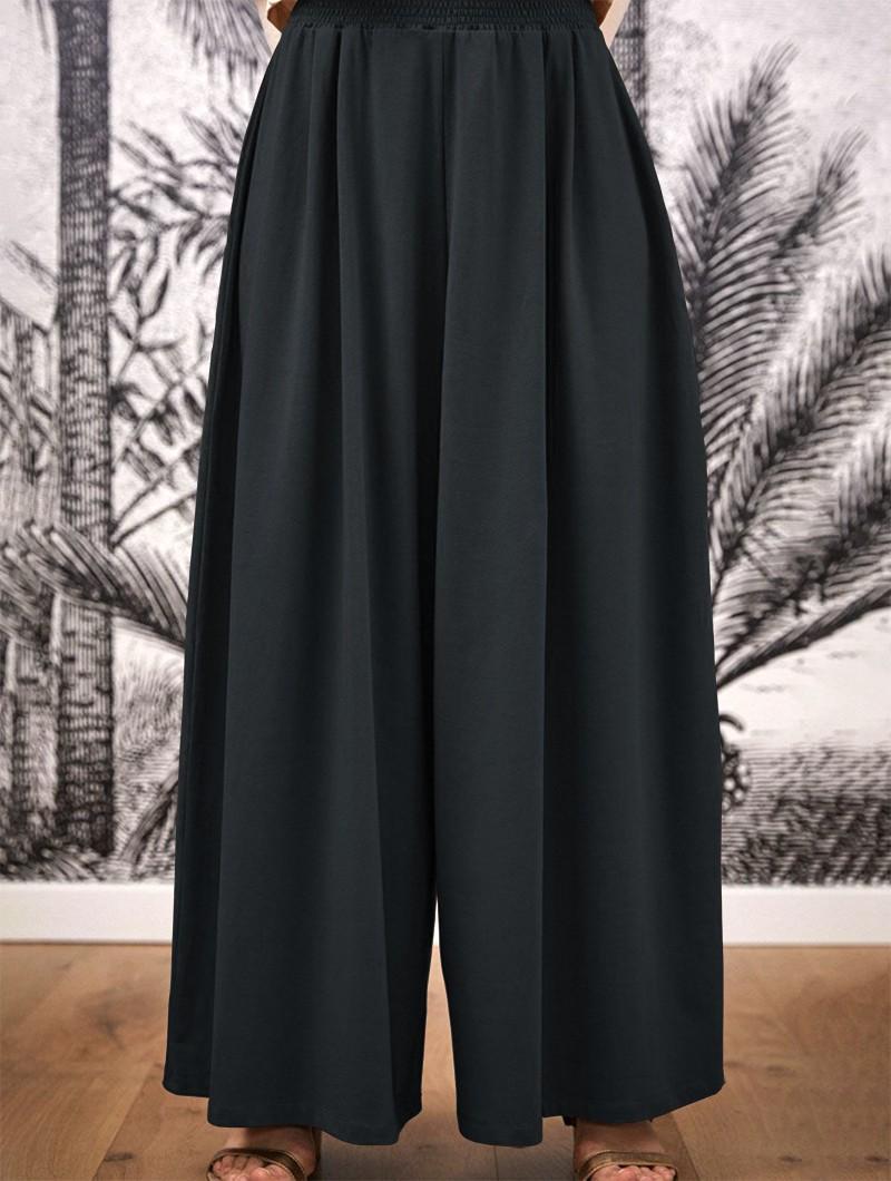 """Pantalon large évasé \""""Booh\"""", Gris anthracite"""