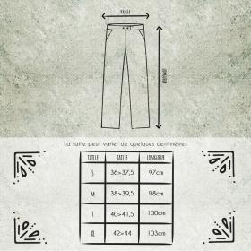Pantalon Molécule 45062, Marron