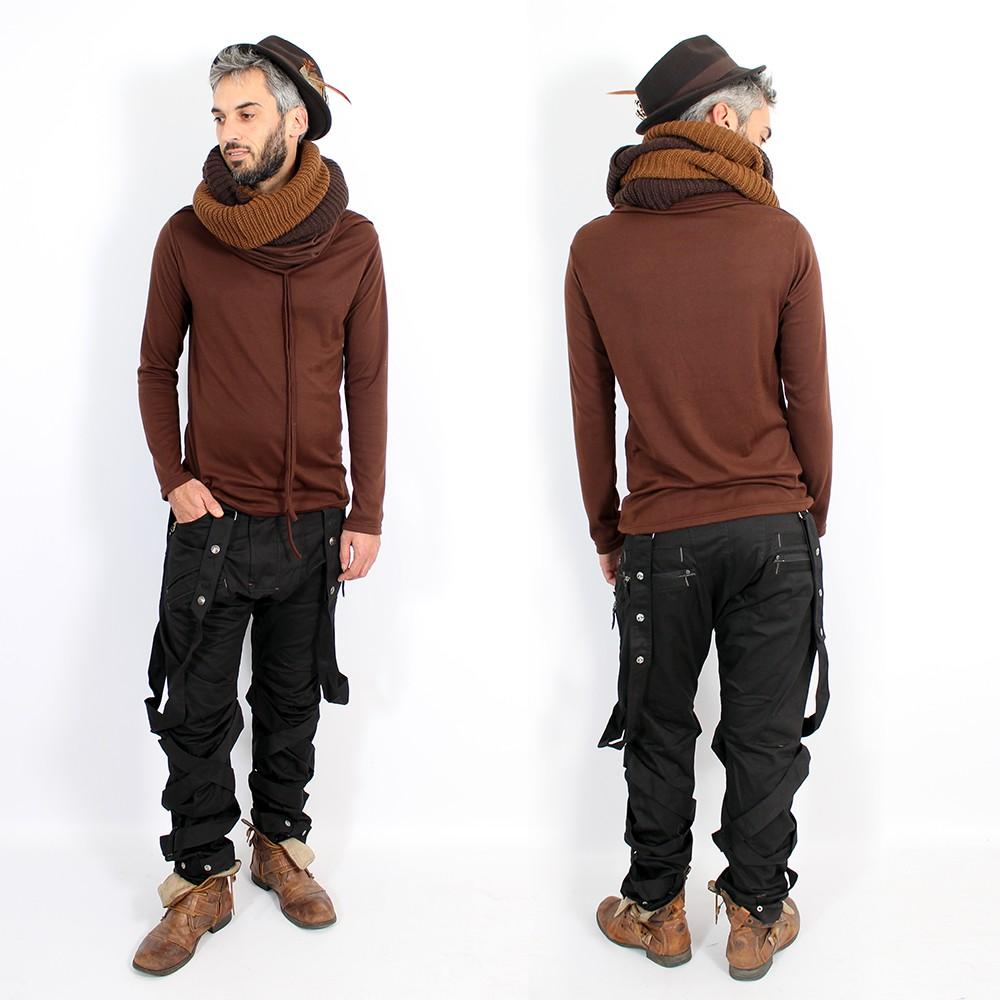 """Pantalon Psylo \""""Ottoman\"""", Noir"""