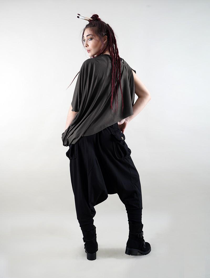 "Pantalon sarouel \""Amira\"", Noir"