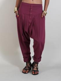 """Pantalon sarouel \""""Badiyah\"""", Bordeaux"""