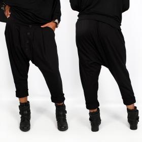 """Pantalon sarouel \""""Badiyah\"""", Noir"""