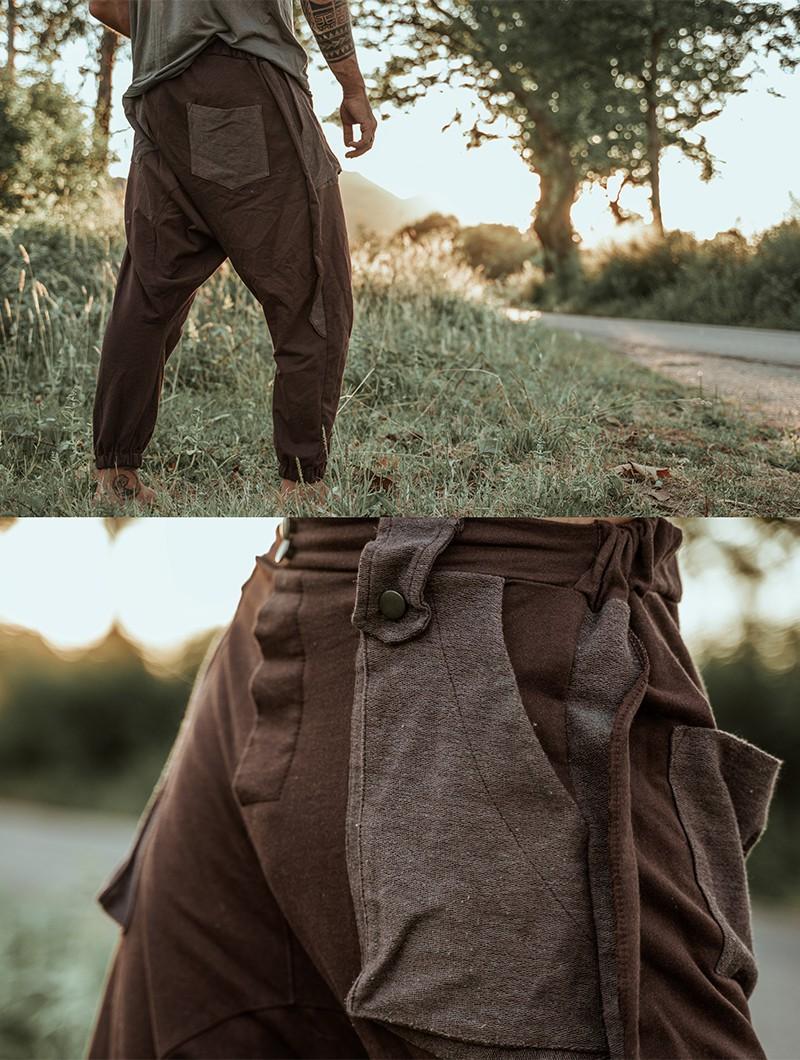 "Pantalon sarouel \""Ifarit\"", Marron"