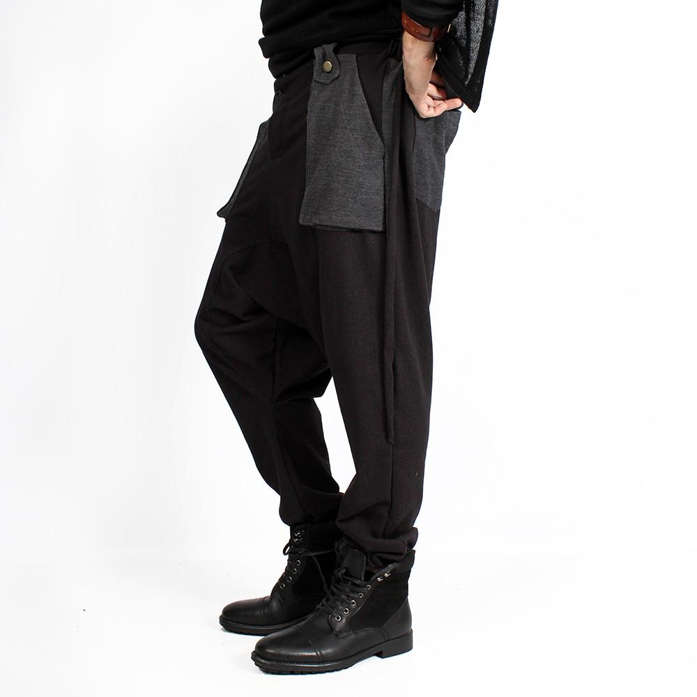 "Pantalon sarouel \""Ifarit\"", Noir"