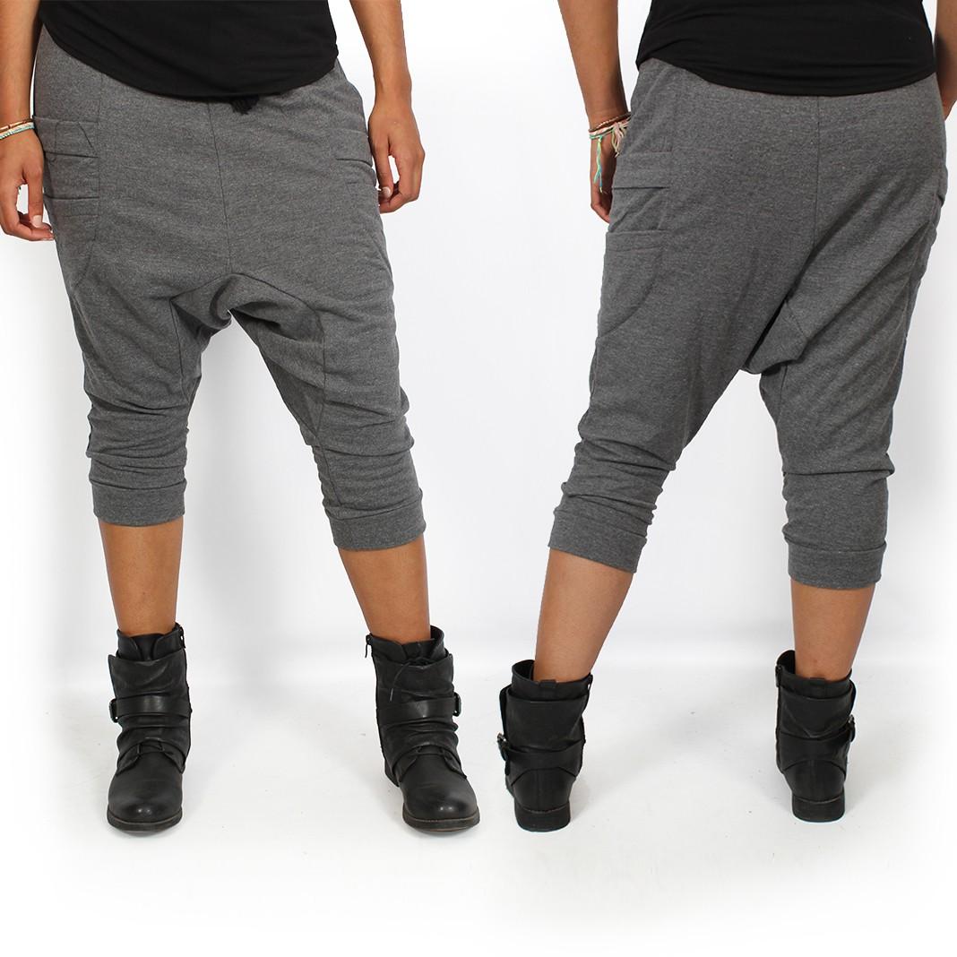 "Pantalon sarouel 3/4 \""Safar\"", Gris"