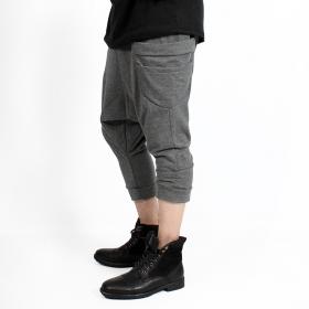 "Pantalon sarouel 3/4 unisexe \""Safar\"", Gris chiné"