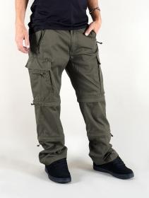 """Pantalon treillis 3in1 \""""Cargo Savannah\"""", Vert kaki"""