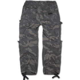 "Pantalon treillis surplus \""cargo pure\\\"", dark camo"