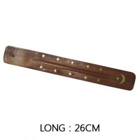 Porte encens plaque en bois 26cm