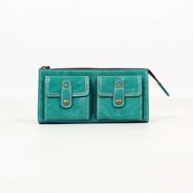Porte-feuille aspect cuir \\\'\\\'Aishani\\\'\\\', Turquoise