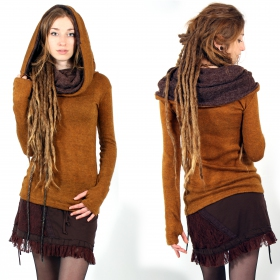 "Pull ""Mantra\"", Rouille et marron"