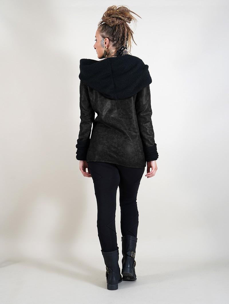 "Pull faux cuir \""Nemöoz\"", Noir"