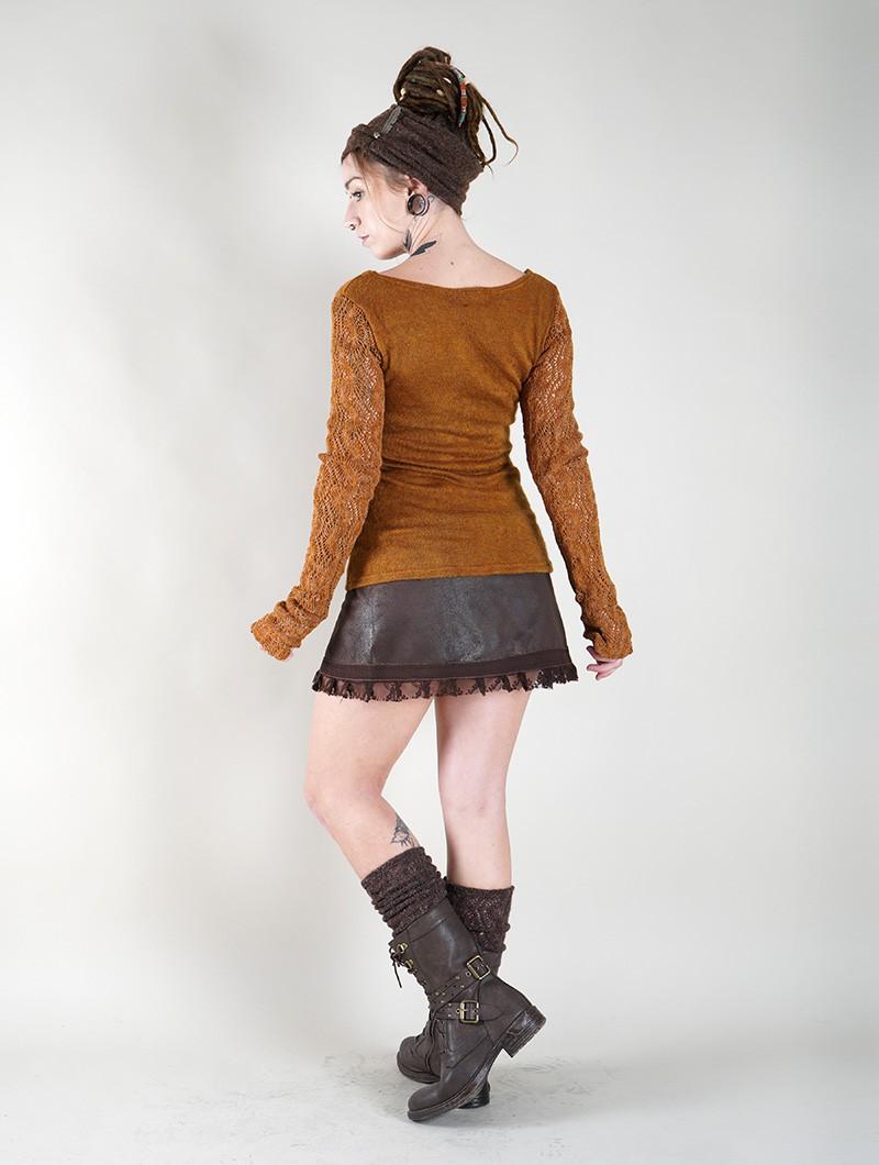 "Pull manches crochet \""Oroshï\"", Rouille"