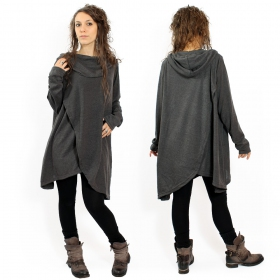 """Pull witch \\\""""inika\\\"""", gris anthracite taille unique"""