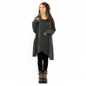 "Pull witch \""inika\\\"", gris anthracite taille unique"