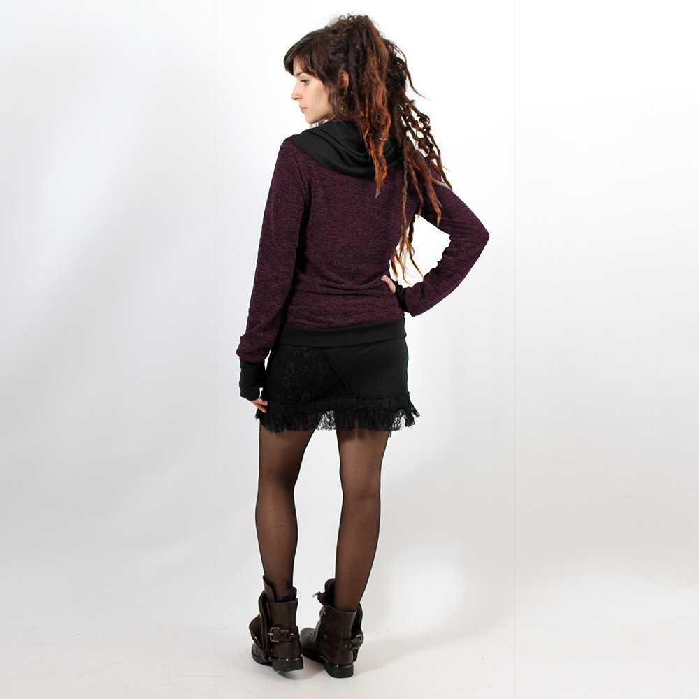 """Pull Witch \""""Janjira\"""", Violet noir"""