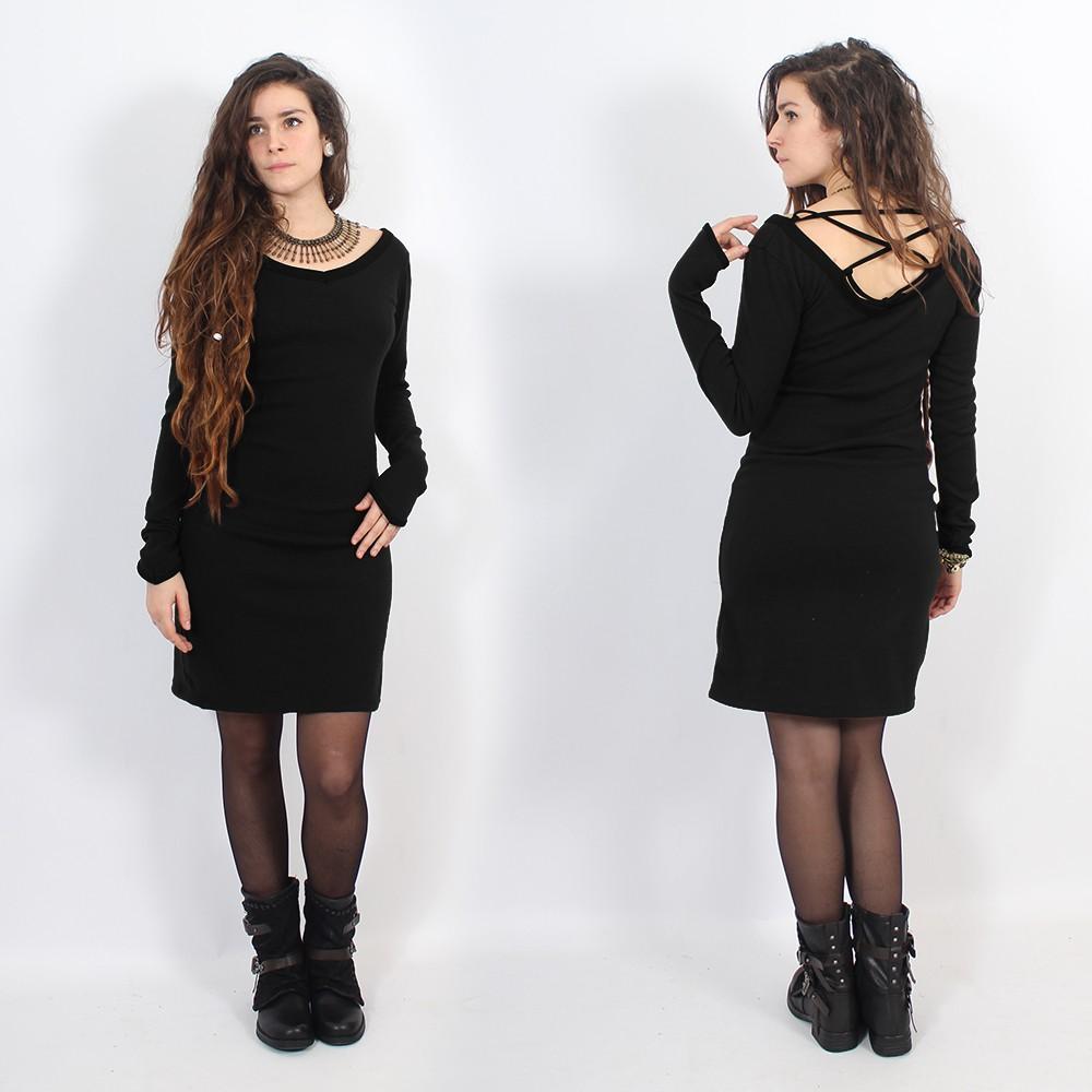 "Robe \""Anaëly\"", Noir"
