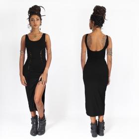 robe midi moulante et sexy noire angelina liloo