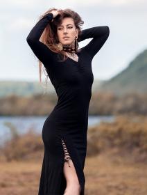 "Robe \""Aryäa\"", Noir"