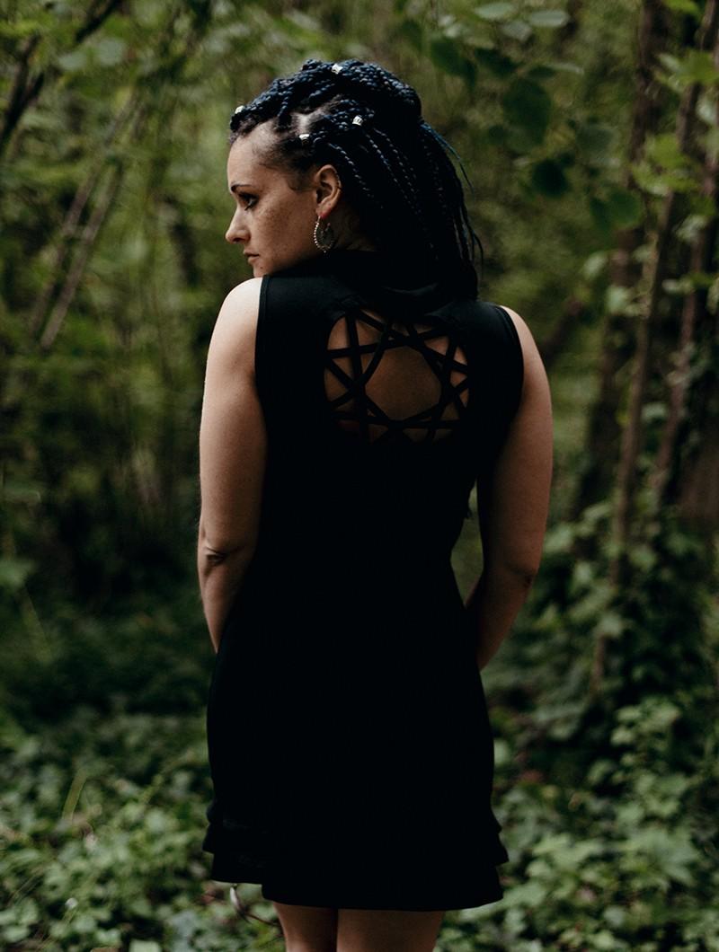 """Robe \""""Athena\"""", Noir"""