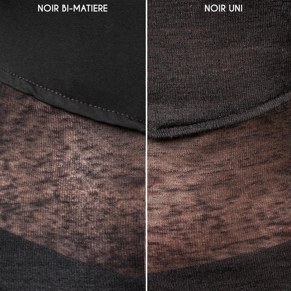 """Robe \""""Azmiyäa\"""", Noir bi-matière"""