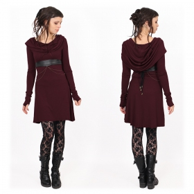 "Robe ""Chryzz\"", Bordeaux"