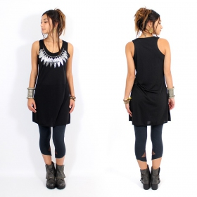 "Robe \""Feather neck\\\"", Noir et argent"