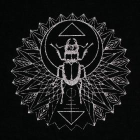 """Robe \""""Geometric Scarab\"""", Noir et argent"""