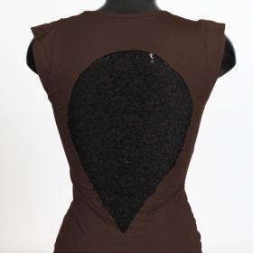 """Robe \""""Jadeite\"""", Marron et noir"""