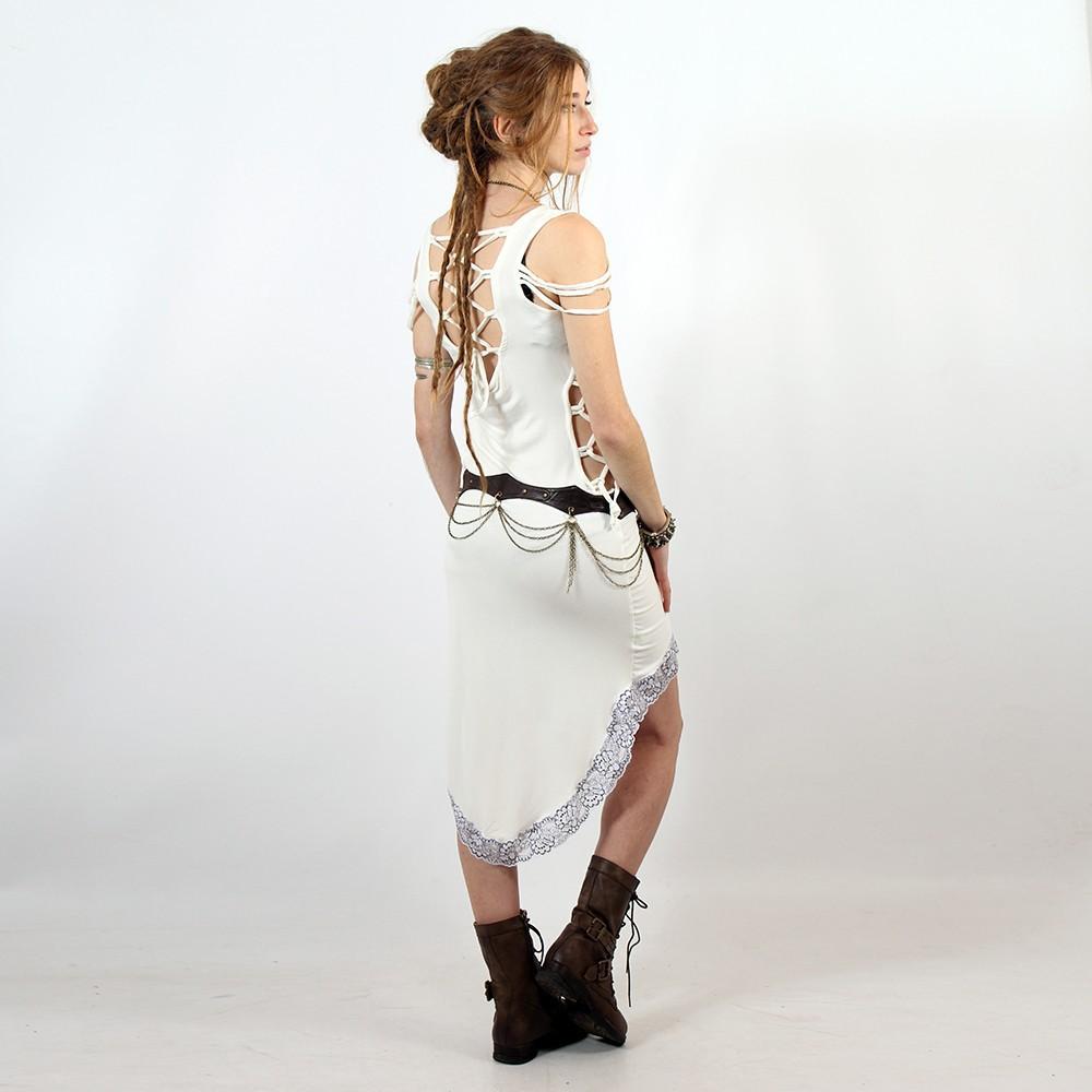 "Robe \""Kazumi\"", Blanc"