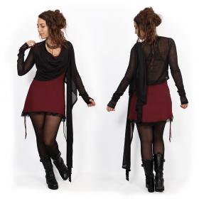 """Robe \""""Little dress\"""", Rouge foncé et noir"""