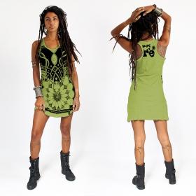 "Robe \""Lotus\"", Vert pomme"