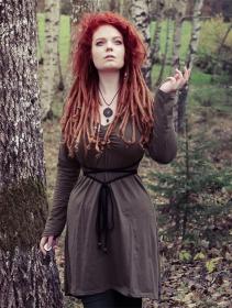 """Robe \""""Mystic\"""", Vert kaki et Noir"""