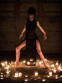 "Robe \""Nephilim\"", Noir transparent"