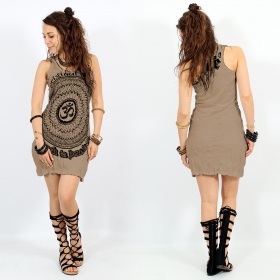 "Robe ""Ohm Mandala\"", Marron clair"