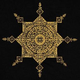 """Robe \""""Toonz Mandala\"""", Noir et or"""