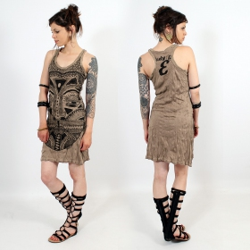 "Robe \""Tribal tattoo face\\\"", Marron clair"