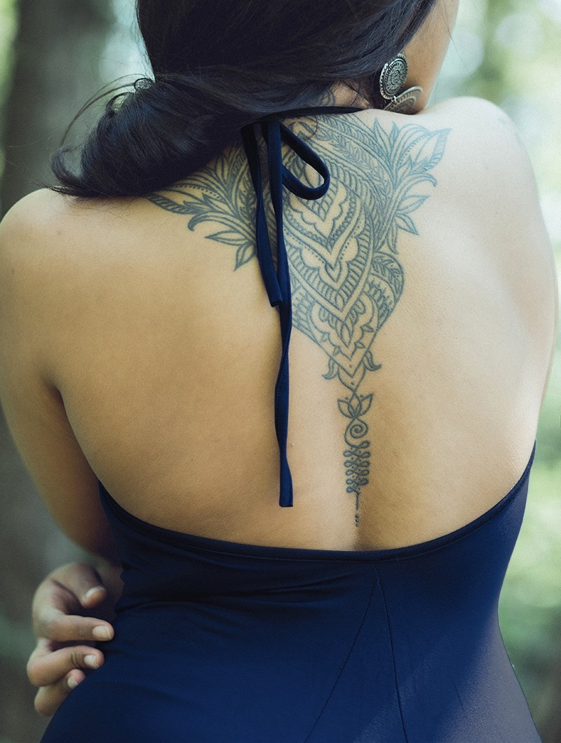 "Robe \""Trisha\"", Bleu nuit"