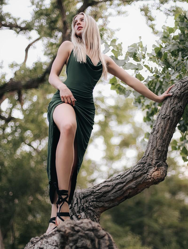 "Robe \""Trisha\"", Vert forêt"