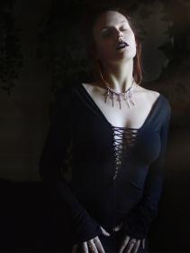 """Robe \""""Valkyrie\"""", Noir"""