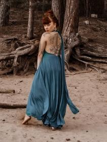 """Robe \""""Wakiza\"""", Bleu"""