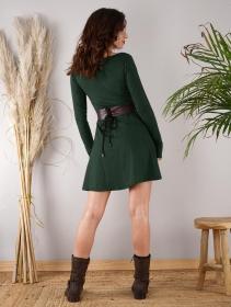 """Robe à manches longues \""""Ysïaa\"""", Vert canard"""