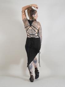 "Robe asymétrique \""Deepti\"", Noir"