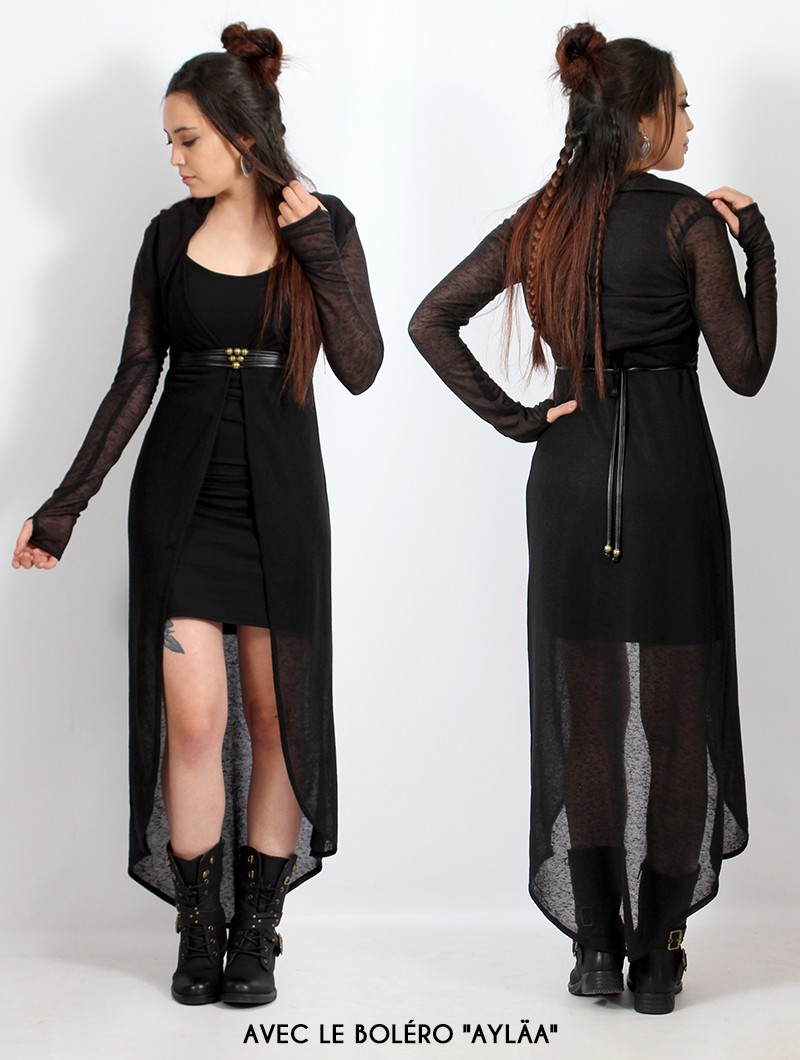 "Robe asymétrique ""Marrakech"", Noir"